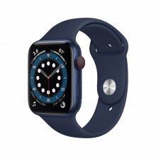 Apple Watch Series 6 44 mm 4G, niebeski