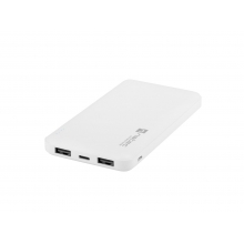 Natec Trevi Slim Power bank 10 000mAh, white, Type-C, micro USB